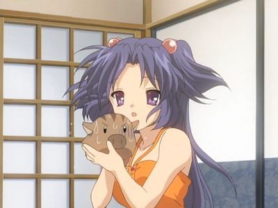 ooh! ooh! This is Kotomi from Clannad! hey,, am i late?? kyahaha!