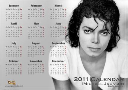 Michael Jackson calender for 2011