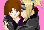 Deidara from Naruto!! *randomly kisses Deidara*