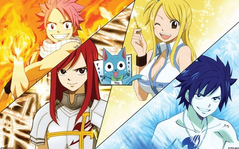Watch fairytail!its the best Anime in my opinion.
