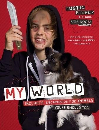 be like wdf and say if u dont give me 100,000 dollars i'll take pic's of u and tell the world u raped my dog..xD