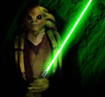 My favourite species... hard to choose. There are so many. Probably Zabrak and Arkanian Offshoot. And my favourite Jedi would be Kit Fisto. He's awesome.