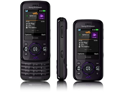 Sony Ericsson W395. It also has headphones.