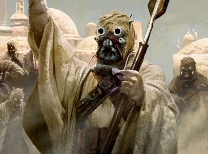 Tusken Raiders, it's horrible that they killed Anakin's mom and all, but they're so cool! :) And of course Aankin is my favorito! Jedi! He's tied with Padme as my alltime favorito! too!