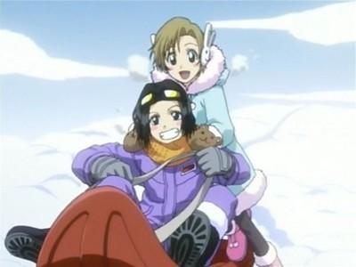 [b]Since Kagami and Tsukasa are taken,I guess Yuzu and Karin Kurosaki of Bleach.^_^[/b]