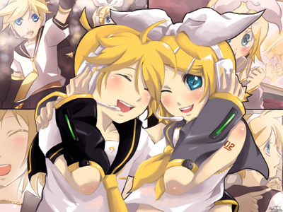 Rin and Len Kagamine, i kno theyre taken a lot but i like them :D