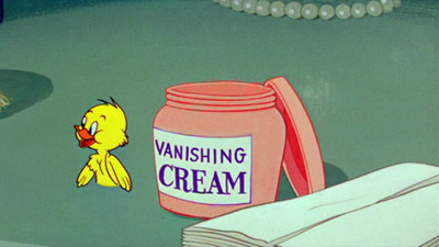 Vanishing cream...kind of like what you'd see in Tom & Jerry cartoons, where if bạn put it on your body, you'd appear invisible. :D