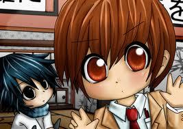 L and light from death note