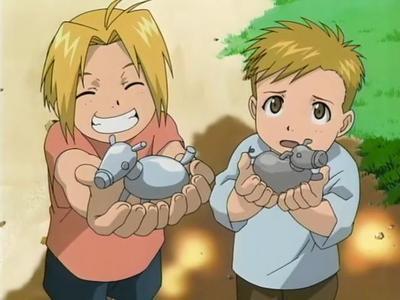 Edward Elric and his bro Al many مزید !!!!!!!!