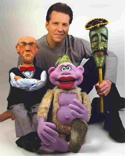 Jeff Dunham. I saw him live twice. In Allentown and in Hershey. I might c him again in Bloomsburg at the Bloomsburg fair.