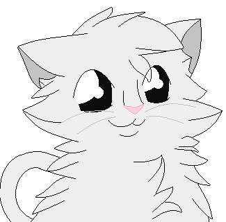your face look at teh kitty!! :3