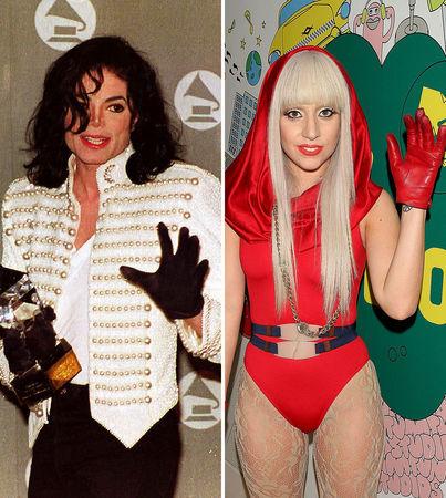 id say gaga and michael, I 愛 LADY GAGA!!!!<3and MJ of corse!!