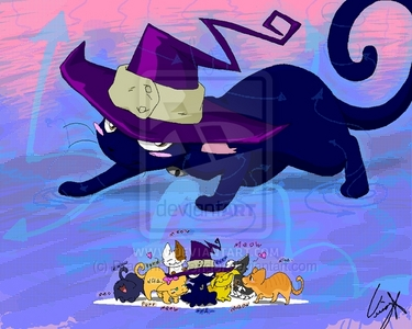 blair from soul eater in her kitty form :33