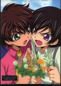 Suzaku and Lelouch from Code Geass