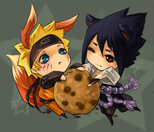 Im obsessed with the Anime Naruto and the characters Naruto and Sasuke. X3