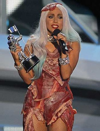 The iconic meat dress !!!