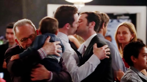 There first kiss[ONLY] in season five in the season finale and its there last ever one :( 