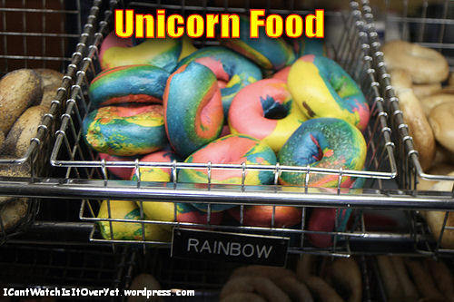 खाना to be और specific: unicorn food, found at the store