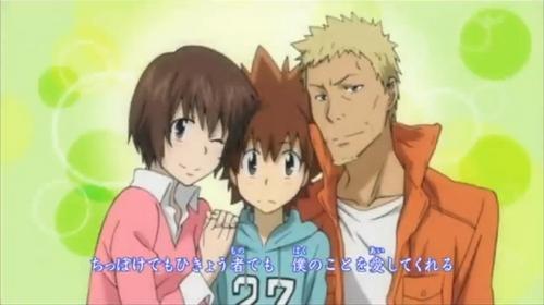 Nana, Tsunayoshi, and Iemitsu Sawada