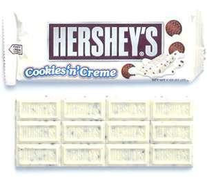 Hershey's kue, cookie 'n' Creme cokelat Bar