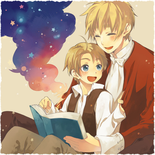 America and England, from Axis Powers Hetalia. Technically, they're father and son. >w< <3