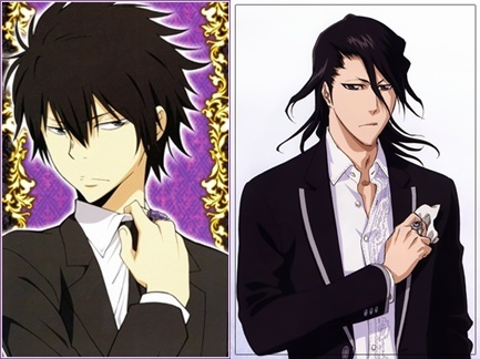 Um, I'd probably try to talk to them (I love Byakuya and Hibari equally), but it would probably be hard, because they both aren't very communicative people XP