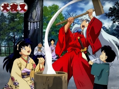 kagome and her family!!!!!!!!!:)
