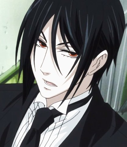 if sebastian was in front of me it'd most likely be so he and his young master can get information out of me but i'd still freak out XD