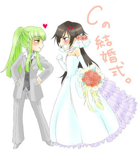 "Lelouch and C.C. in ""alternate outfits"" LOL ^_^"