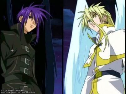 i Cinta dark and krad who always fighting like with there feather like that so there is dark and krad:D