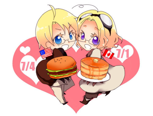 Here. America and Canada from Hetalia.