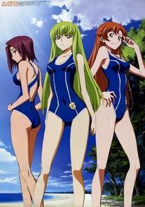 Lelouch girls in स्विमिंग सूट