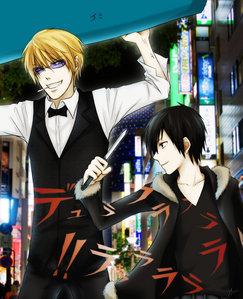 Shizuo and Izaya from durarara! <3 xD