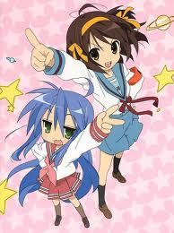 haruhi junior high school im just like her , i have the same head band , long (not so long) hair and im bossy >_> but some times ppl say im like haruhi and yui , but my personality is just like konata -_-