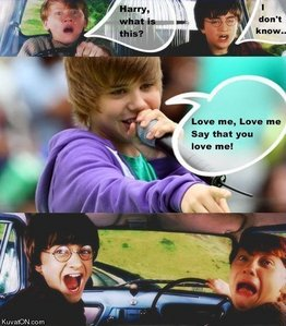 Sorry for all the Bieber những người hâm mộ out there, but I find this too funny.