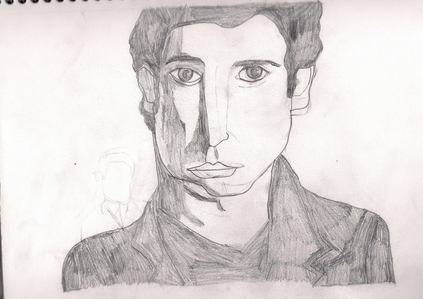 """My drawings, well actually I know I'm better than most people but it still amazes me how many compliments I've received even on the ones I was sure I did bad on. This one isn't one of my """"terrible"""" ones but his chin is lopsided."""