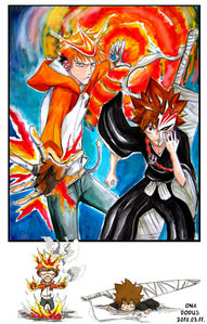Ichigo as Tsuna and Tsuna as Ichigo