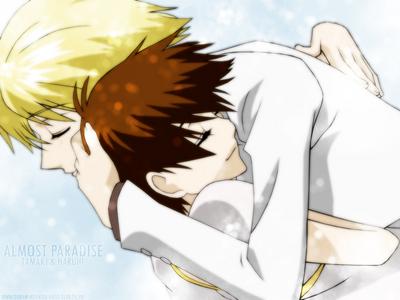 Haruhi and Tamaki!!! Kyaaaaa xD