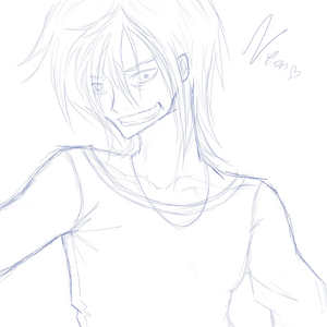 I'm on my lit as usual, listening to the Red Jumpsuit Apparatus, downloading some pics and trying to finish this Sketch: