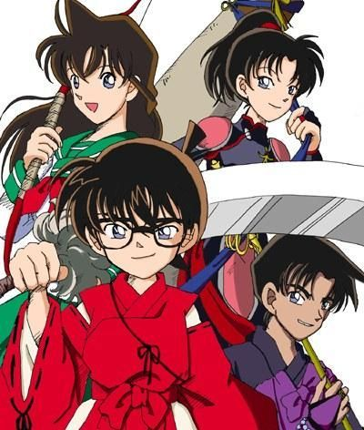 "Case Closed Characters Cosplaying As InuYasha Characters. Also Known As ""Case-Yasha""."