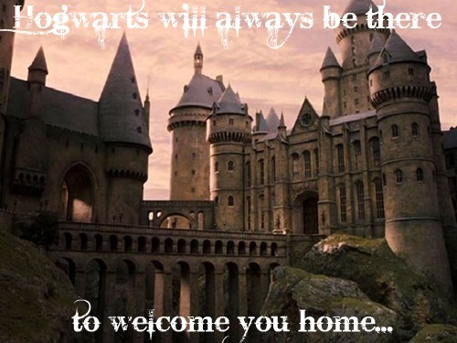 This line always makes me smile/cry. Hogwarts will always be there to welcome Du home. Even though the series and Filme have ended, Hogwarts will always be there... :')