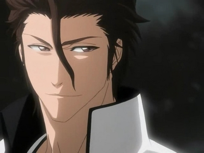 I think this counts. This is the bad side of Sosuke Aizen from Bleach.
