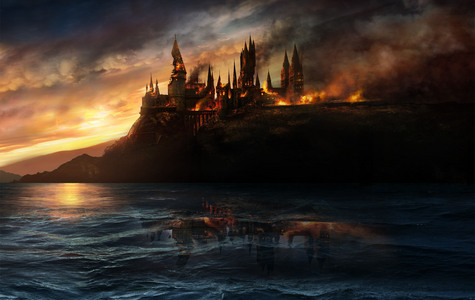 even though in peril, hogwarts stand strong not just in combat but in all our hearts.