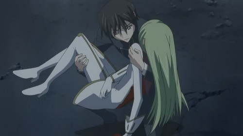 Lelouch and CC!! <3 Look at his concerned face~!