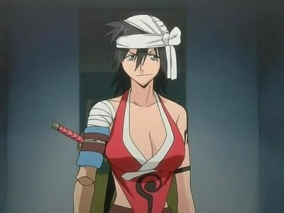 Hmmm Maybe, Kukaku Shiba from bleach. I always got a tomboyish vibe from her.