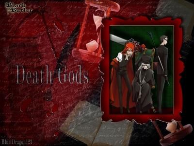 It's 더 많이 of a red theme of the Death Gods in Kuroshitsuji.