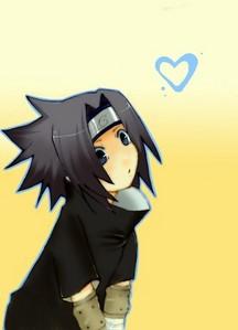 Sasuke, he has kawaii hair ^o^