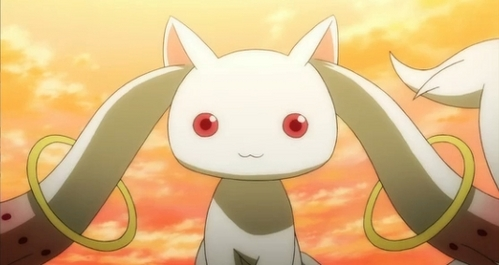 Kyubey. Don't trust him, Though. The cuteness is a lie. @_@