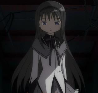 Homura from Madoka Magica. She seems to be everyone's favorito! character, but honestly, I can't stand her. -3-