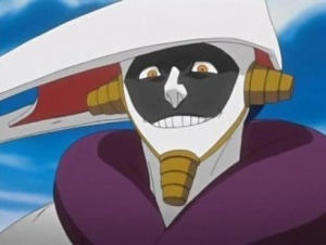 i have a crush on mayuri from bleach ik its wierd to like him but i do